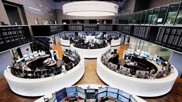 Stock market trading room in Frankfurt