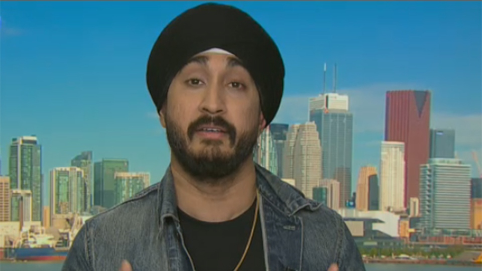 Canadian comedian Jasmeet Singh speaks to CTV News Channel, Feb. 23, 2016.