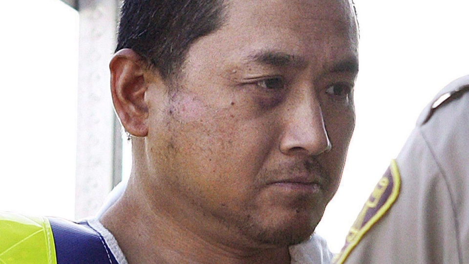 Vince Li is pictured at a court appearance in a Portage La Prairie, Man., Aug. 5, 2008. (John Woods / THE CANADIAN PRESS)