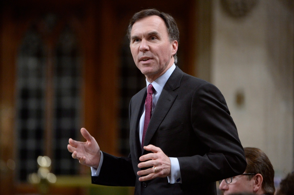 Finance Minister Bill Morneau answers a question during Question Period in the House of Commons on Parliament Hill in Ottawa, on Tuesday, Feb.23, 2016. (THE CANADIAN PRESS / Adrian Wyld)