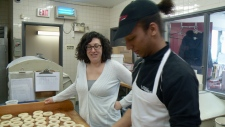 Liliana Piazza,George Jobateh, Ottawa Bagel Shop.