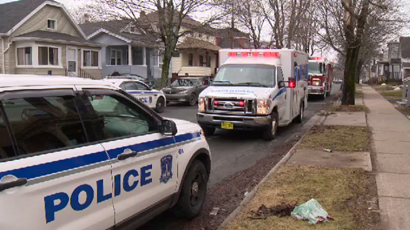 Halifax Regional Police and fire crews attend the scene on Macara Street Sunday afternoon.