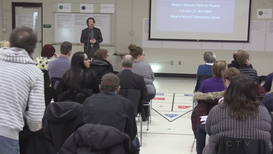 Urgency was the message at public meeting in London, Ont, about the City's poverty strategy, on Tuesday, February 23, 2016. (Daryl Newcombe / CTV London)
