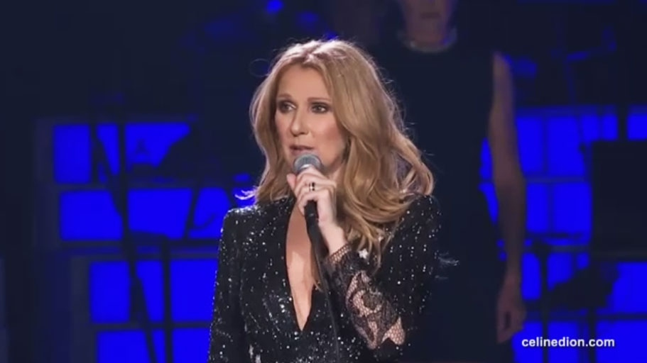 Celine Dion honoured her late husband Rene Angelil when she returned to the stage in Las Vegas on Tuesday, Feb. 24, 2016. (CelineDion.com)