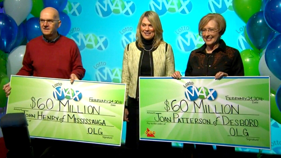 John Henry, left, and Joan Patterson both won $60M in two separate Lotto Max draws.