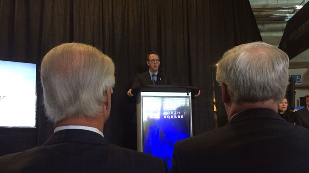 """True North Sports and Entertainment's Mark Chipman told a large crowd Wednesday, """"the renaissance of our downtown is now well under way."""""""