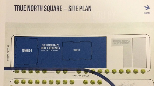 One section of the site plan for True North Square.