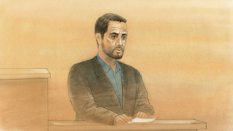 Marco Muzzo, 29, speaks in a Newmarket, Ont. court on Wednesday, Feb. 24, 2016. (John Mantha / CTV Toronto)