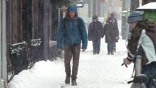 Snowstorm in Ottawa streets