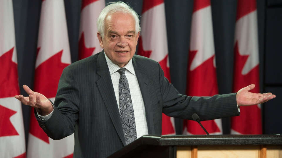 Immigration Minister John McCallum responds to a question while speaking in Ottawa on Thursday, Feb. 25, 2016. (THE CANADIAN PRESS/Adrian Wyld)
