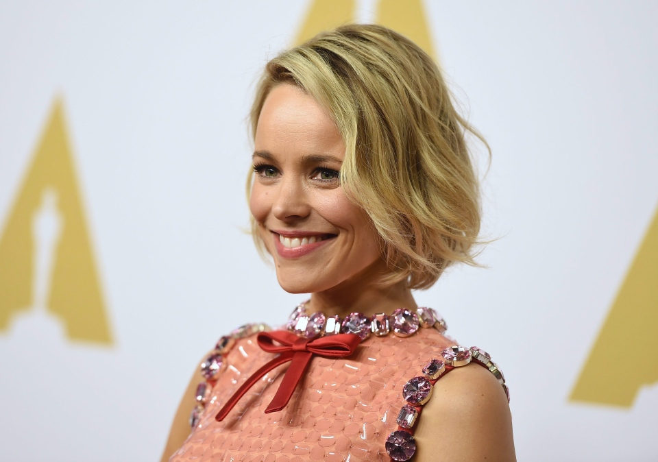 Rachel McAdams arrives at the 88th Academy Awards Nominees Luncheon at The Beverly Hilton hotel in Beverly Hills, Calif. on Monday, Feb. 8, 2016. (Invision / Jordan Strauss)
