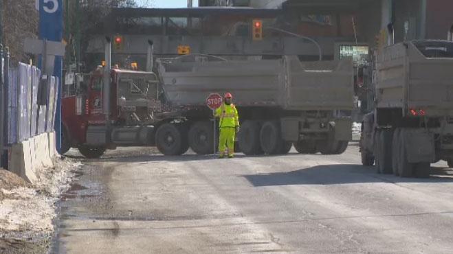 Work is already underway at Winnipeg's famed True North Square.