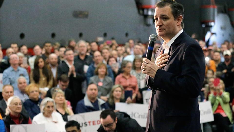 U.S. Republican presidential candidate Sen. Ted Cruz, R-Texas speaks during a rally, in Houston, Wednesday, Feb. 24, 2016. (AP / David J. Phillip)