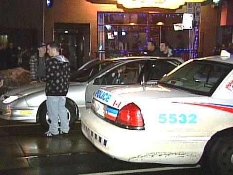 The post-shooting scene on Kingston Road on Sunday, Dec. 28, 2008.