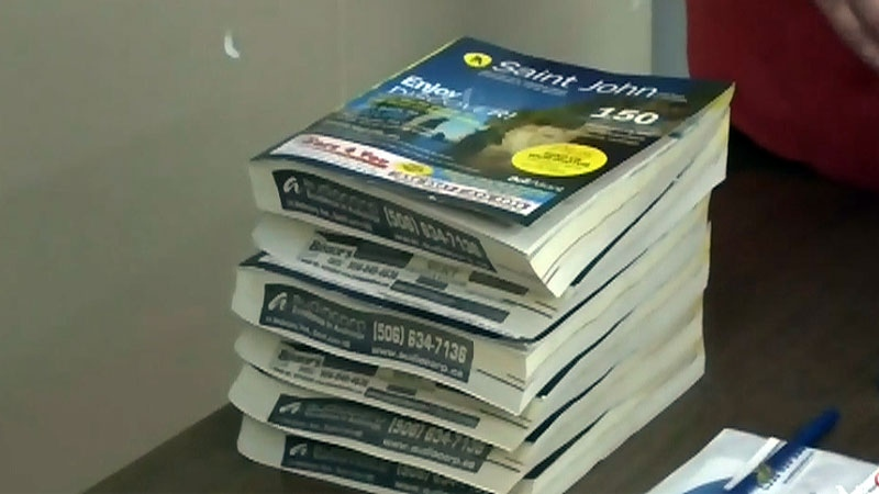 The new phone books in Saint John, N.B. are more compact but the print size is smaller too.