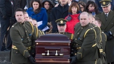 Funeral service for Thierry LeRoux in Quebec