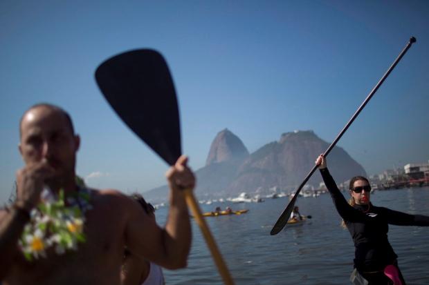 Protestors in Rio de Janeiro