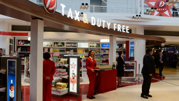 Duty-free shops at O'Hare Airport