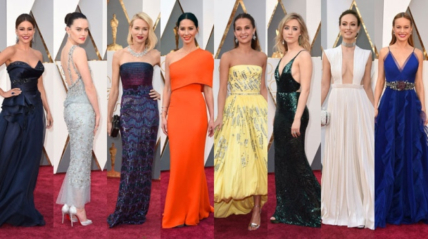 Bold colours, lace and sequins are on display on the red carpet as celebrities make their way toward Los Angeles' Dolby Theatre for the 88th Academy Awards. (AP Photos)
