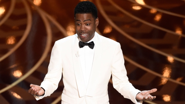 Host Chris Rock speaks at the Oscars
