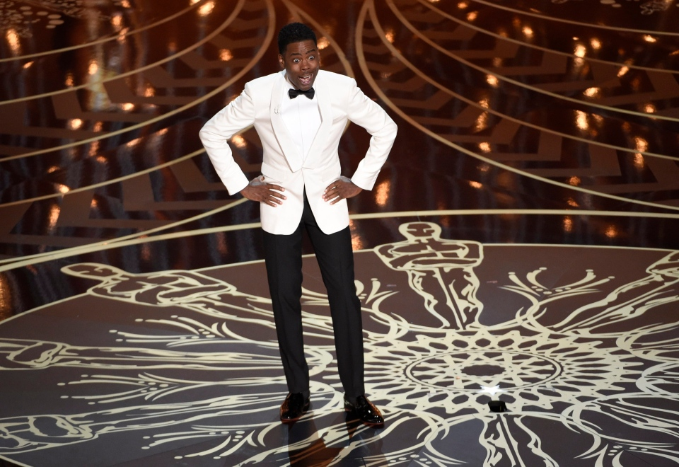 Host Chris Rock speaks at the Oscars on Sunday, Feb. 28, 2016, at the Dolby Theatre in Los Angeles. (AP / Invision / Chris Pizzello)
