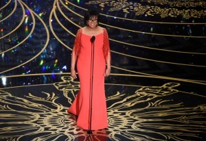 President of Academy of the Motion Picture Arts and Sciences Cheryl Boone Isaacs speaks at the Oscars at the Dolby Theatre in Los Angeles on Sunday, Feb. 28, 2016. (Chris Pizzello / Invision)
