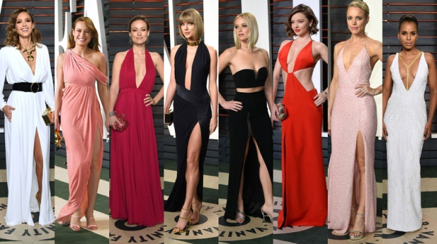 Many of Hollywood's biggest celebs ditched their Oscar gowns for edgy dresses at the Vanity Fair Oscar Party. (AP Photos)