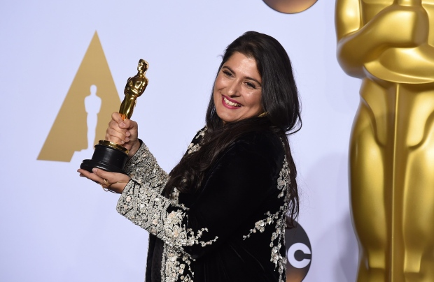 Sharmeen Obaid Chinoy with her Oscar