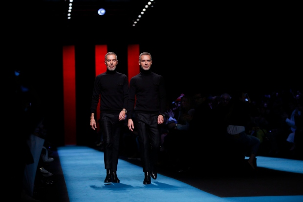 Canadian fashion designers Dean and Dan Caten
