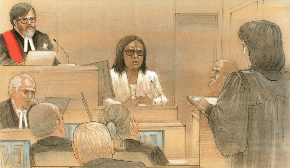 Cindy Ali appears in a Toronto courthouse on Feb. 29, 2016. (John Mantha / CTV Toronto)