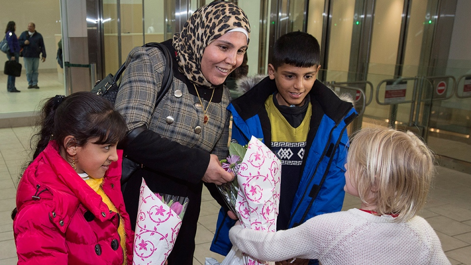 Syrian refugees welcomed in Halifax