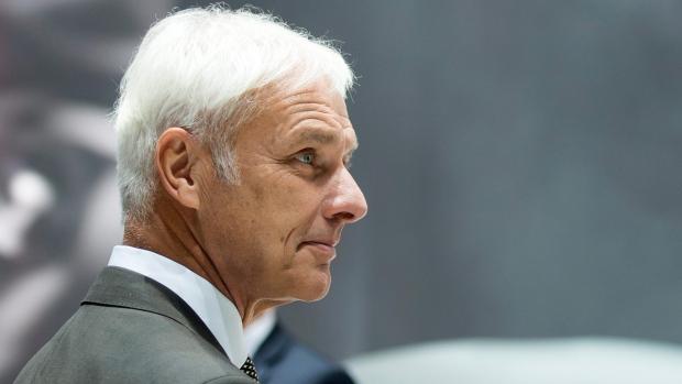 Volkswagen CEO Matthias Mueller at the Geneva show