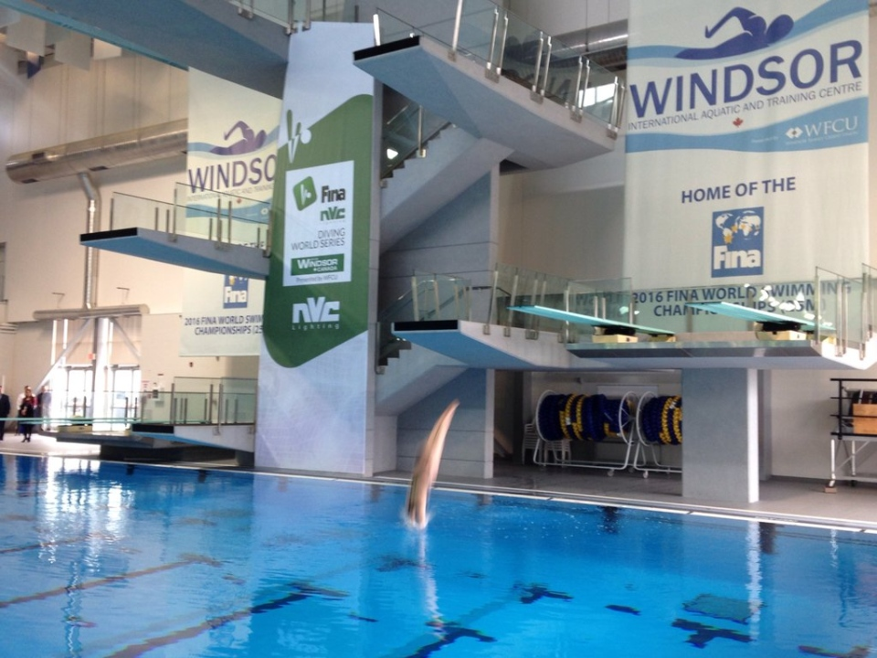 The Windsor Diving Club is now running in Windsor, Ont., on Tuesday, March 1, 2016. (Chris Campbell / CTV Windsor)