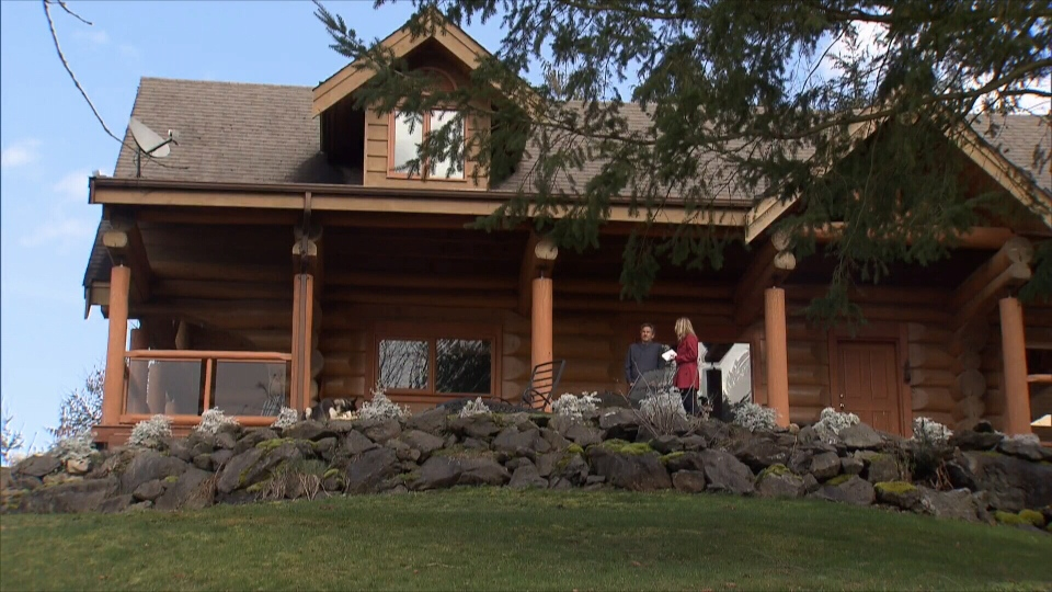 John Gyra bought a log home on a 10-acre plot for $1-million less than the sale price of his North Vancouver home. (CTV)
