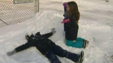 It's a snow day for some children in southern Quebec.
