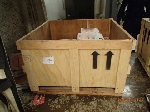 A crate of suspected cocaine is seen in a CBSA photo taken Jan. 17, 2016.