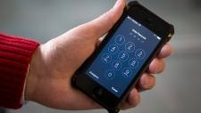 An iPhone in Washington on Wednesday, Feb. 17, 2016. (AP / Carolyn Kaster)
