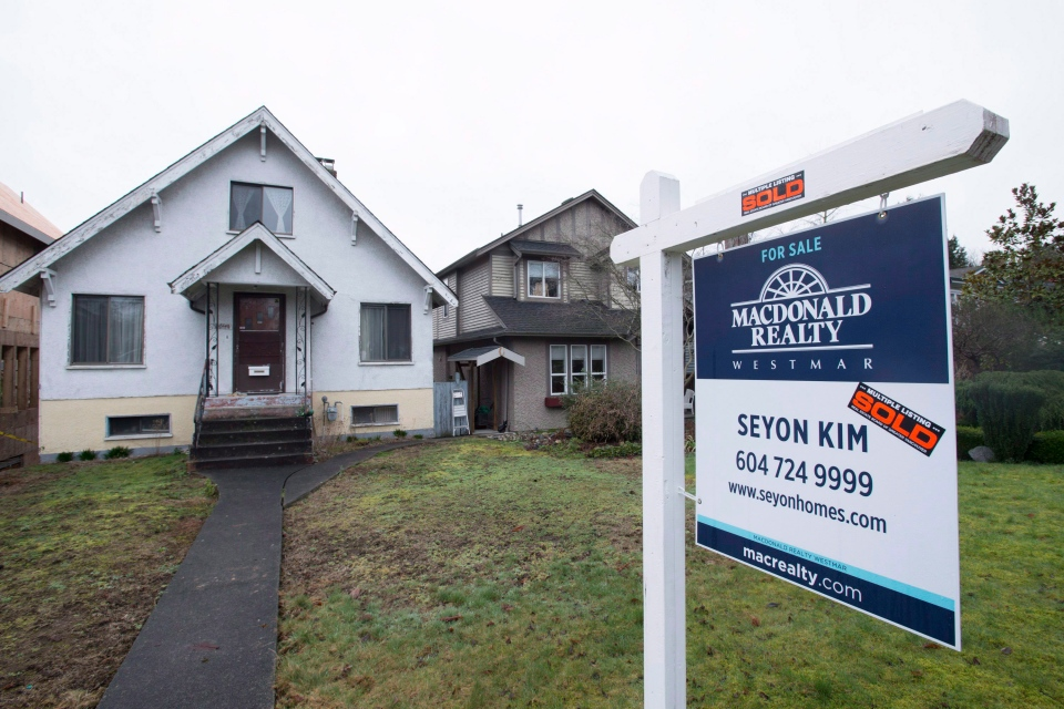 December saw residential sales decrease 39.4 per cent from a year earlier, according to data from the Real Estate Board of Greater Vancouver.