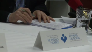 The New Brunswick Council of Nursing Home Unions is calling on the provincial government to increase wages for workers in long-term care homes by $4 per hour. (File photo)