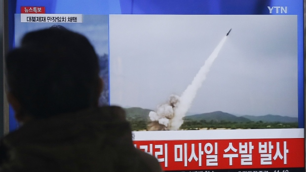 Footage of North Korean missile launch