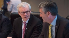 Greg Selinger and Stephen McNeil in Vancouver