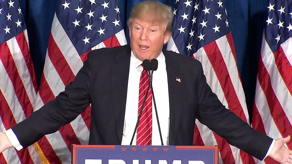 Republican presidential candidate Donald Trump speaks in Portland, Maine, Thursday, March 3, 2016.