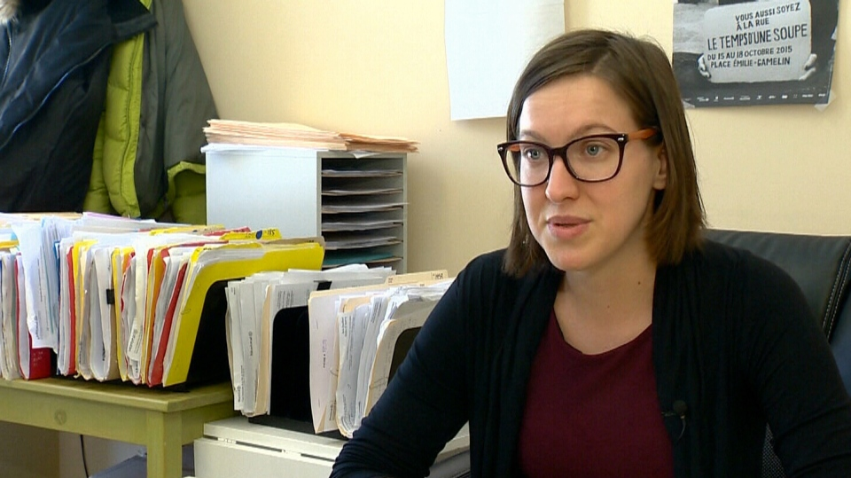 Émilie Guimond-Bélanger, from the legal aid group Droit Devant, speaks to CTV Montreal.