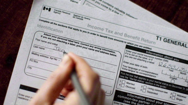 A T1 General 2010 tax form is pictured in Toronto on April 13, 2011.(THE CANADIAN PRESS/Chris Young)