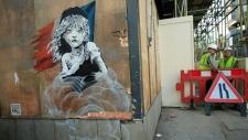 Artwork by Banksy in London