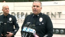 LAPD press conference in Los Angeles