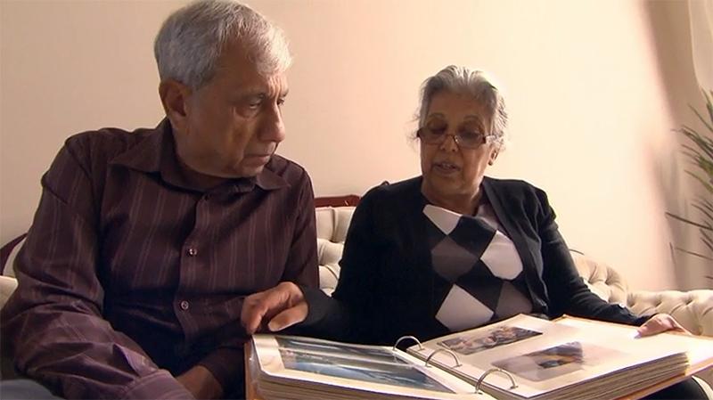 Pamela's parents, Surender and Usha