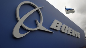 A sign for Boeing is seen in this undated file image.  (Eric Piermont / AFP)