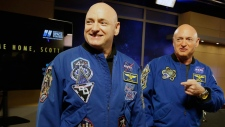 NASA astronaut Scott Kelly, left, & his twin Mark