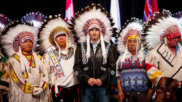 Trudeau at Tsuu T'ina First Nation ceremony